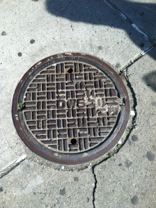 June 16, 2012 New York City Sewer Cover Southeast Corner 116th & 1st Ave